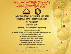 annual christmas raffle flyer